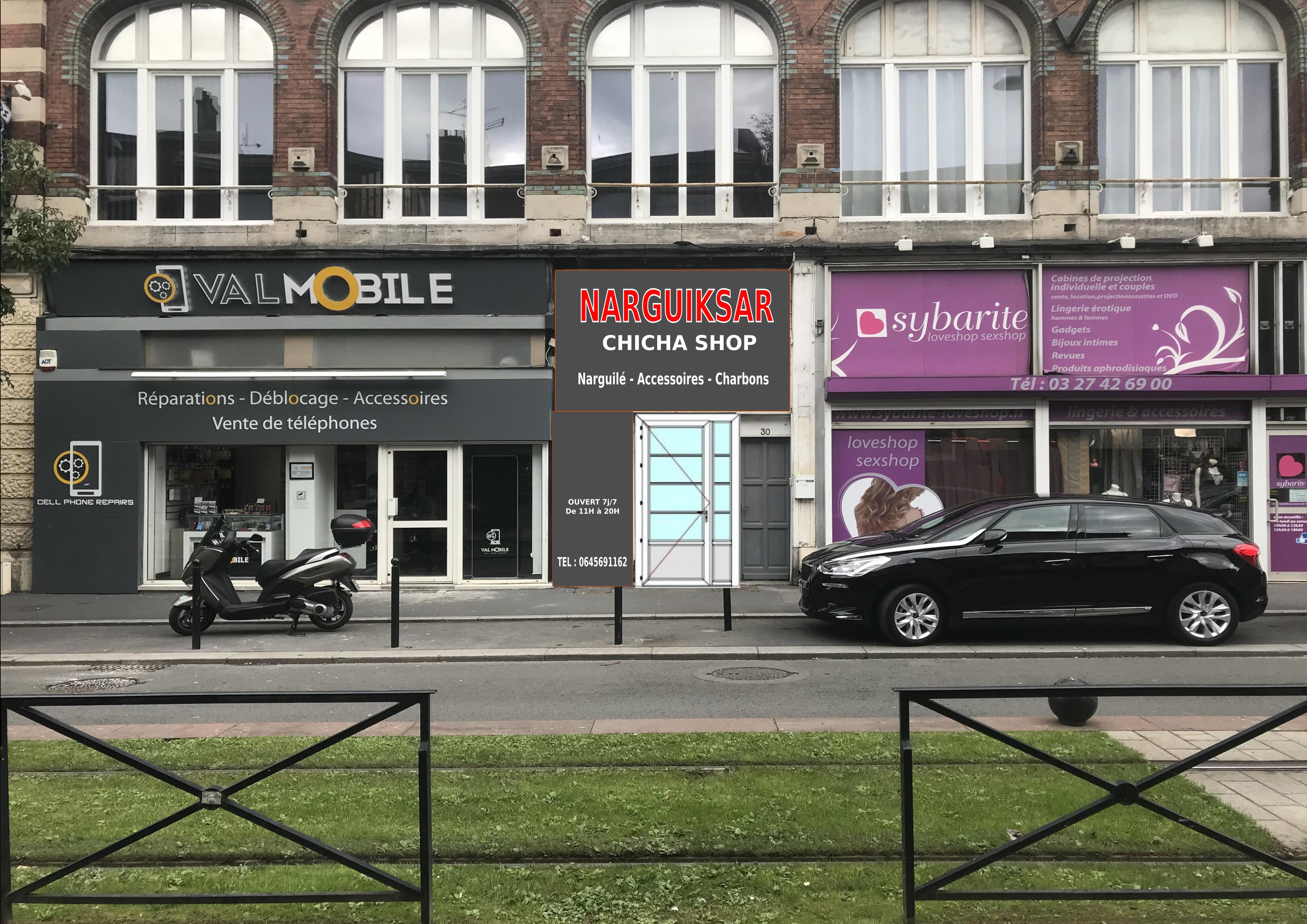 Magasin de chicha à la frontiere franco belge